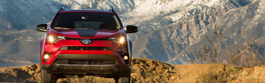 Red 2018 Toyota Rav4 in Vernon BC