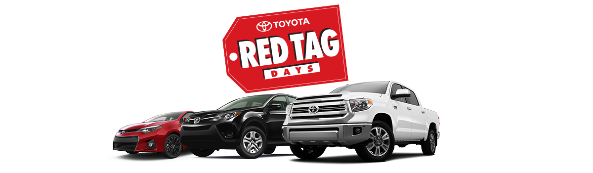 Red Tag Days and 2016 Vehicle Lineup